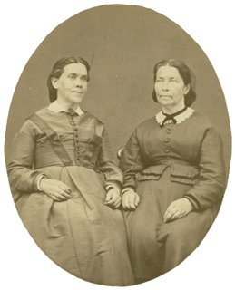 Ellen G. White with sister, Caroline Clough, July 1872