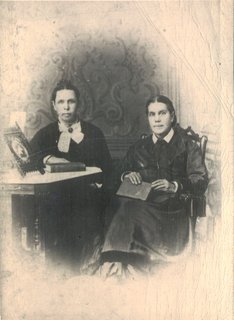 Ellen G. White (right) and her fraternal twin sister, Elizabeth N. Bangs, circa 1878
