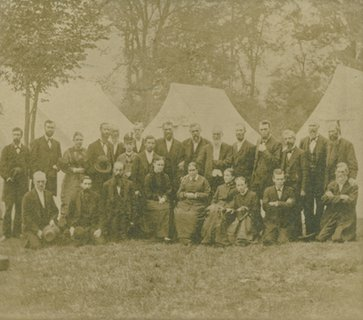 Ellen G. White at the Hornellsville, New York, camp meeting, September 1880