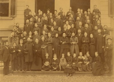 Ellen G. White at the Swiss Conference meeting, Basel, Switzerland, September 1885