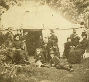 Ellen G. White at the Moss, Norway, camp meeting, June 1887