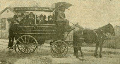 Ellen G. White in wagon, Nashville, Tennessee, March 19-20, 1901