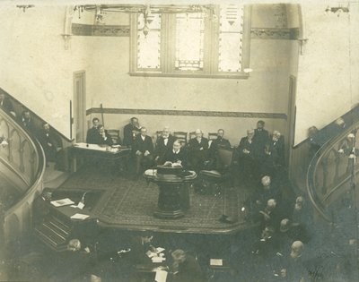 Ellen G. White addressing the 1901 General Conference Session, Battle Creek, Michigan, April 12, 1901