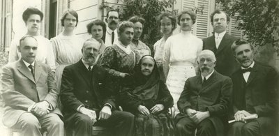 Ellen G. White with Elmshaven helpers, St. Helena, California, circa 1913