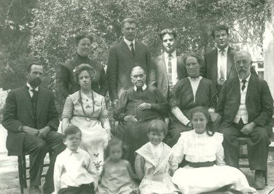 Ellen G. White with family, Elmshaven, St. Helena, California, August 24, 1913
