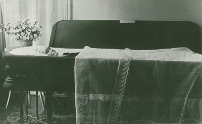 Ellen G. White in casket, Battle Creek, Michigan, July 23-24, 1915